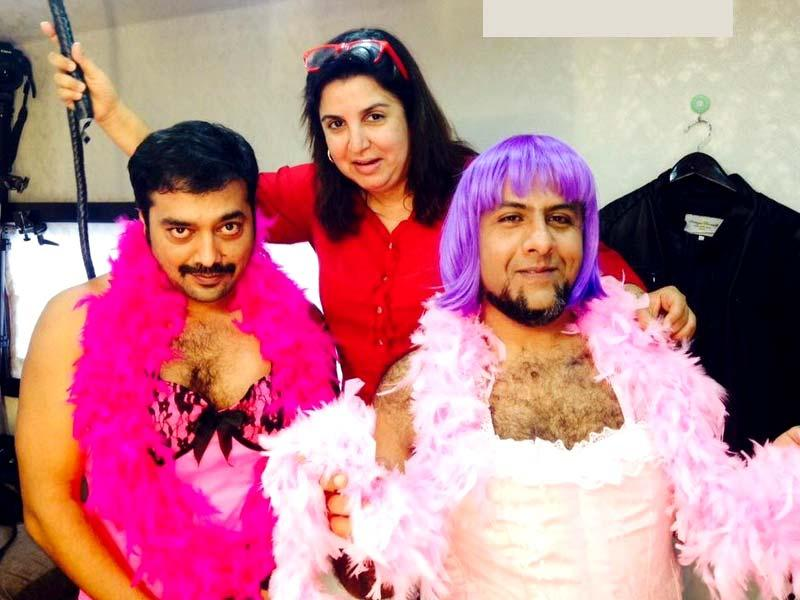 It seems Farah can stoop to conquer. In a rather low blow, she uploaded this image of Anurag Kashyap and Vishal Dadlani in order to deflect Abhishek. But did this stop the actor? Absolutely not.