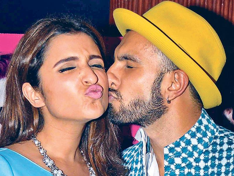 Actor Ranveer Singh seems to be on a marathon kissing spree these days. (Photos: Yogen Shah/ HT)