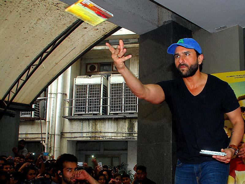 Saif Ali Khan during the promotion of Happy Ending. (AFP Photo)