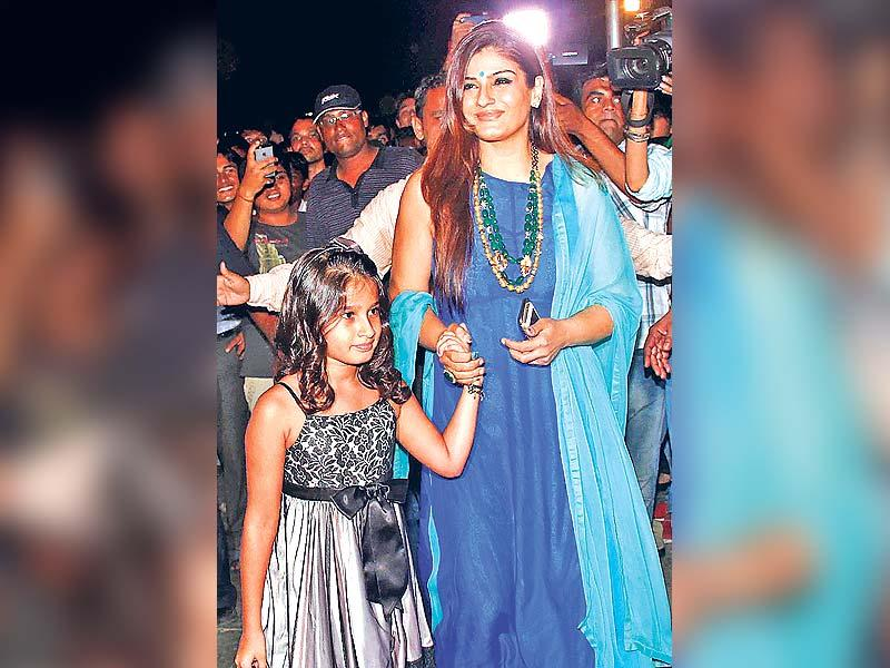 PARTY TIME: Raveena Tandon with daughter Rasha