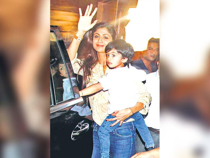HEY THERE: Shilpa Shetty Kundra with son Viaan
