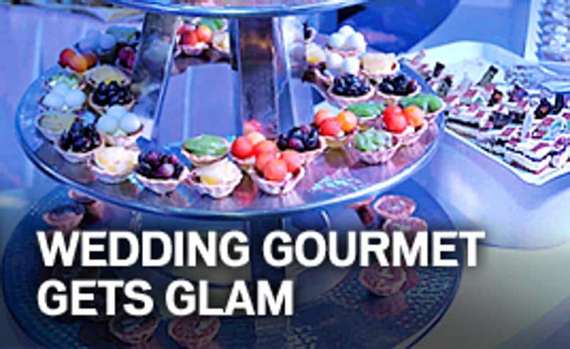 Gourmet Gets Glamorous At Weddings