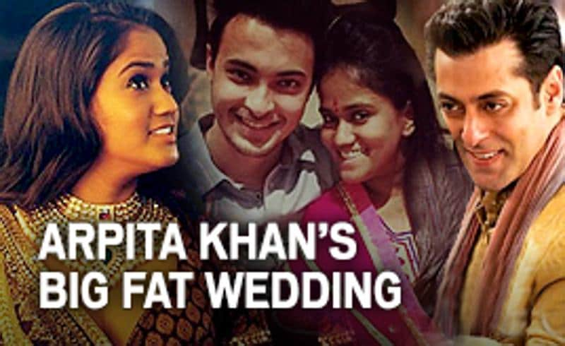 Latest updates from the wedding of Salman Khan's sister Arpita.