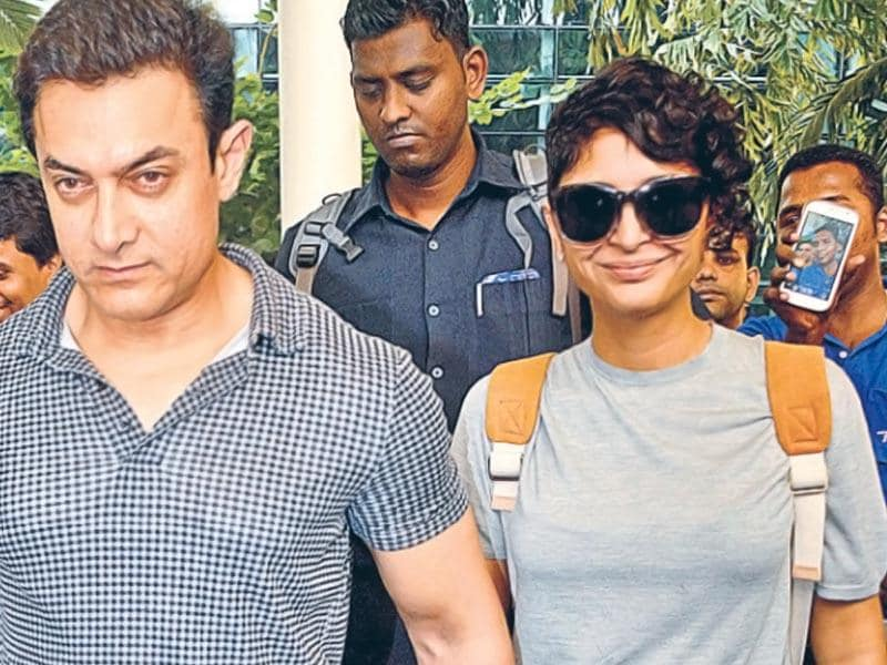 HAND IN HAND: Aamir Khan with Kiran Rao