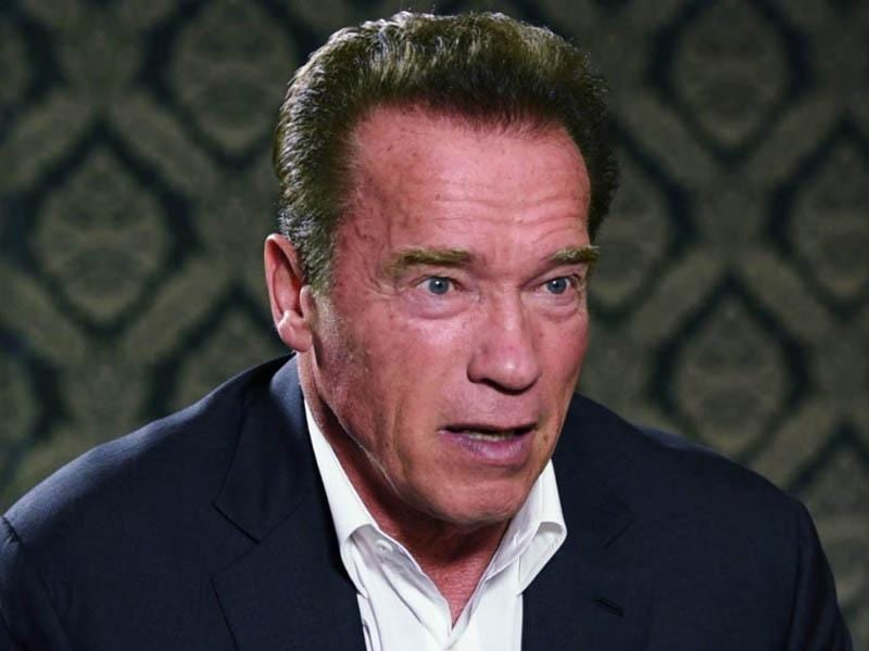 Arnold Schwarzenegger at his eloquent best at the Hindustan Times Leadership Summit 2014, in New Delhi on Saturday. (HT Photo)