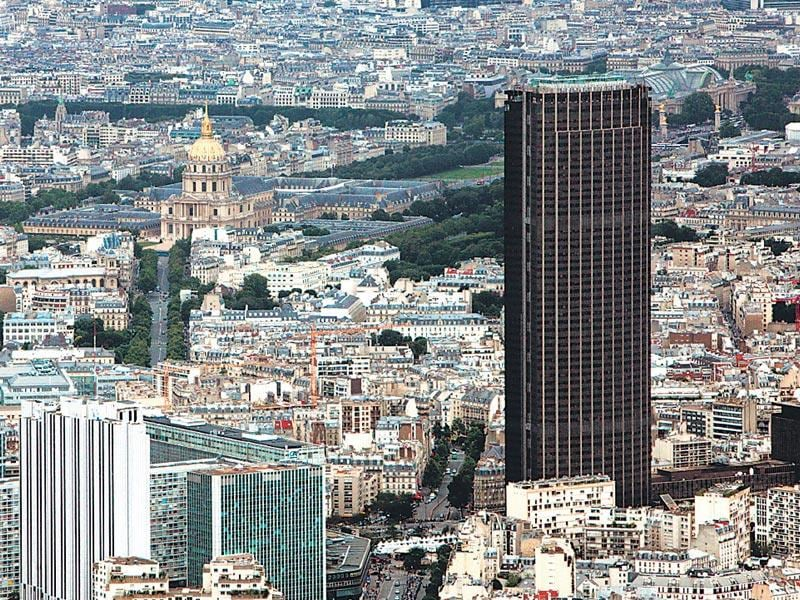 Paris's Tour Montparnasse opened in 1973 and remains the only skyscraper in the city centre.