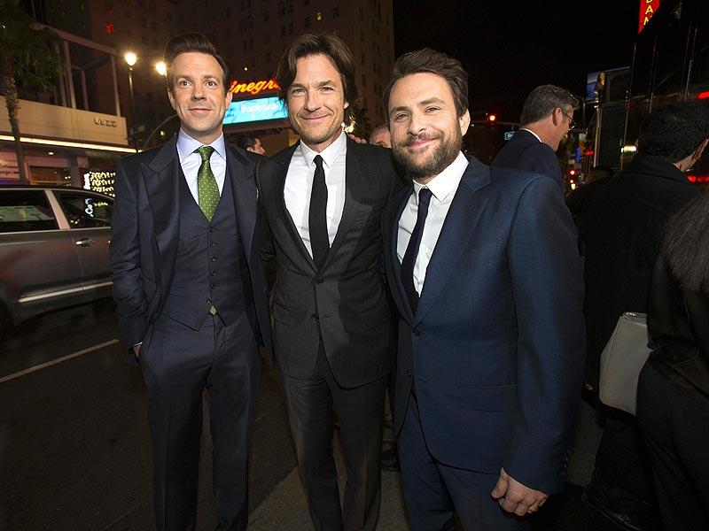 Jason Sudeikis, Jason Bateman and Charlie Day pose at the premiere of Horrible Bosses 2 in Hollywood. (Reuters)