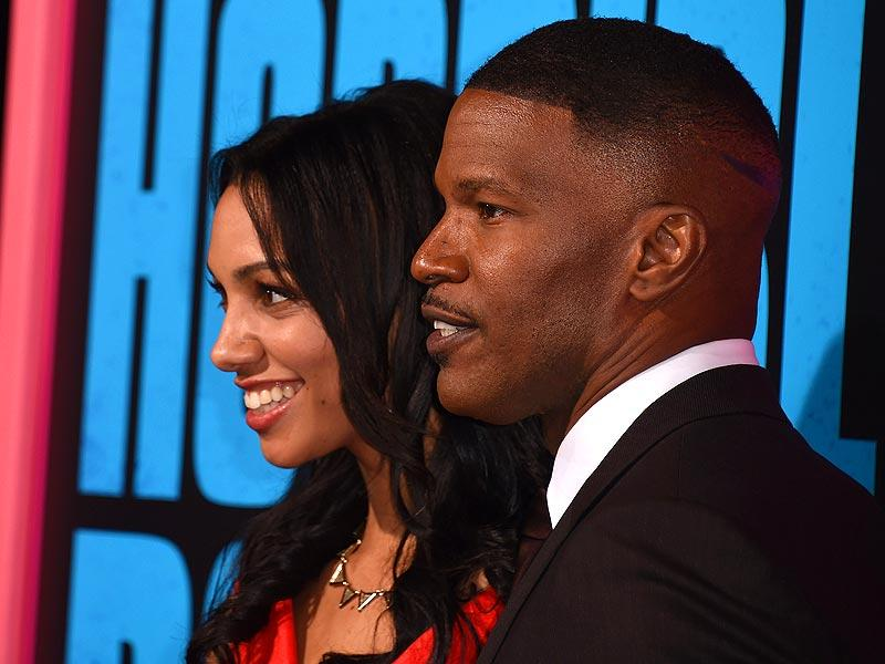 Jamie Foxx and his daughter Corinne Bishop attend the Los Angeles premiere of Horrible Bosses 2. (AFP)