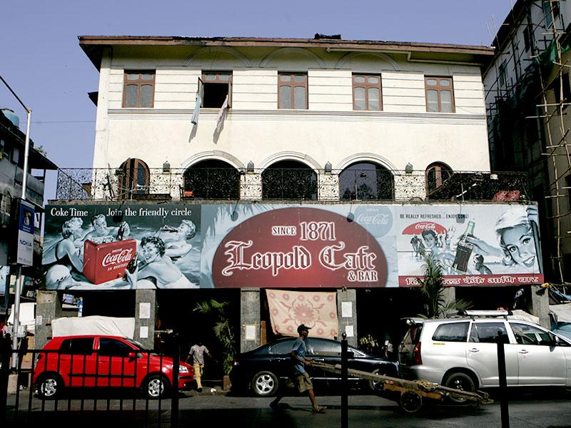 People continue to visit Leopold Cafe, which came under terrorist attack on November 26, 2008. (HT file photo)
