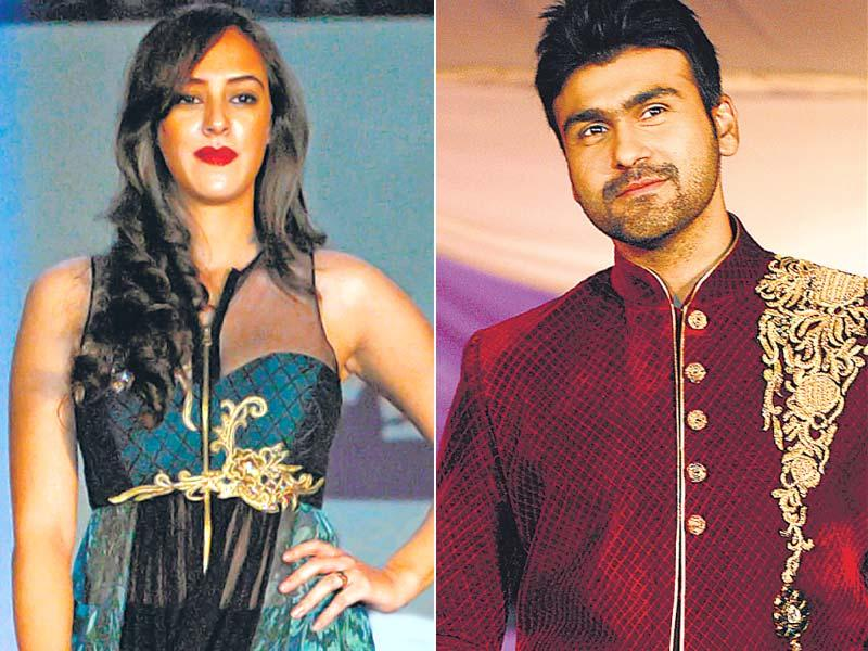 Hazel Keech (left) and Arya Babbar walked the ramp at a celebrity peace initiative in Mumbai to commemorate the 26/11 terror attacks. (HT Photo)