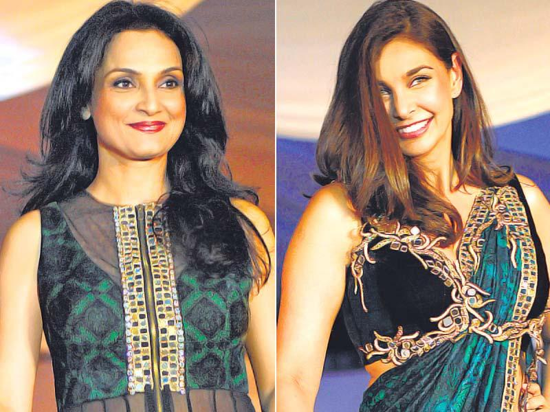 A celebrity peace initiative was one of the numerous events held in Mumbai to commemorate the 26/11 terror attacks. Rajeshwari Sachdev and Lisa Ray were some of the celebrities who walked the ramp. There was a dance and music performance as well. (HT Photo)