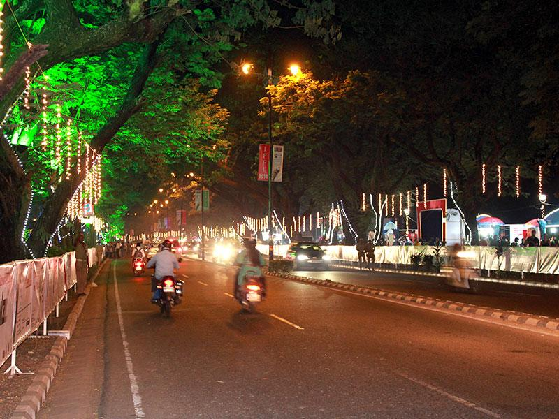 Sights from International Film Festival of India 2014: Panaji decked up to welcome her guests. (Rohit Vats/HT Photo)
