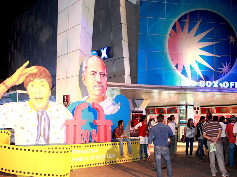 Sights from International Film Festival of India 2014: More cutouts of Indian Cinema's greats. (Rohit Vats/HT Photo)