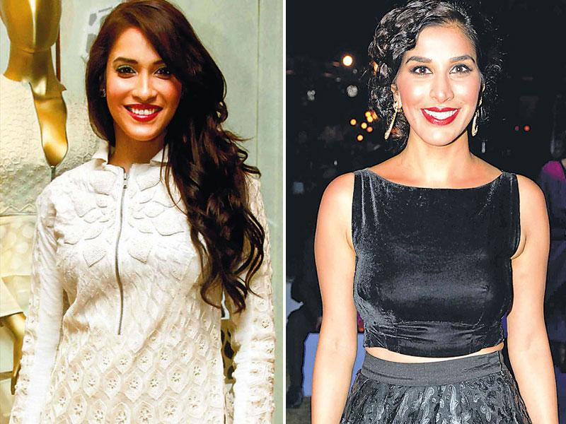 Rashmi Nigam at a fashion event and Sophie Choudry (right) at a party | OURTAKE: Neither of them added much colour to their looks, but they both look elegant. While we've come to expect this standard from Sophie, Rashmi may never have looked better.