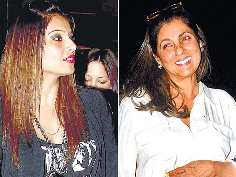 Bipasha Basu (left) and Dimple Kapadia were seen at different locations in Mumbai. (HT Photo)