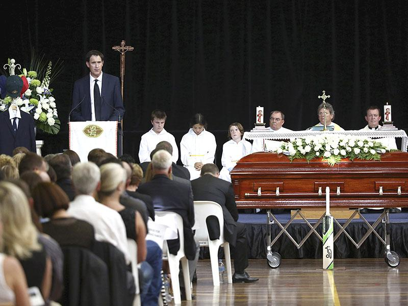 Australia bid an emotional farewell to cricketer Phillip Hughes with a live coast-to-coast broadcast allowing the nation to unite in celebration and remembrance of the life of the sportsman. (Reuters)