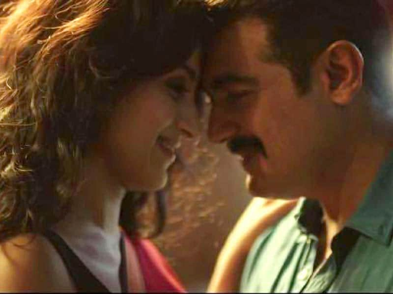 Yennai Arindhaal is among the most anticipated Tamil films along with Rajini-starrer Lingaa and Vikram's I. Ajith's character sports a romantic yet pensive look at times and other times, he's aggressive as ever. (dudette583/Facebook)