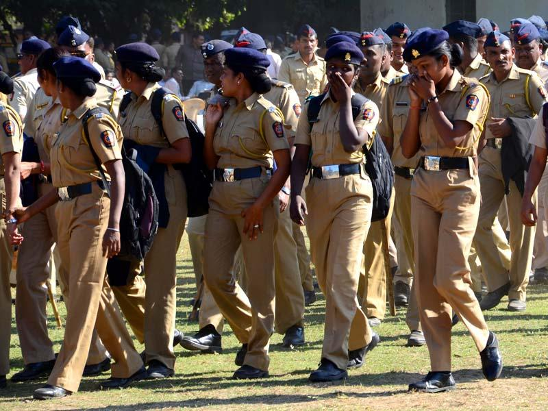 Maharashtra police personnel are deployed ahead of the winter session of the sate assembly in Nagpur. (Sunny Shende/HT photo)