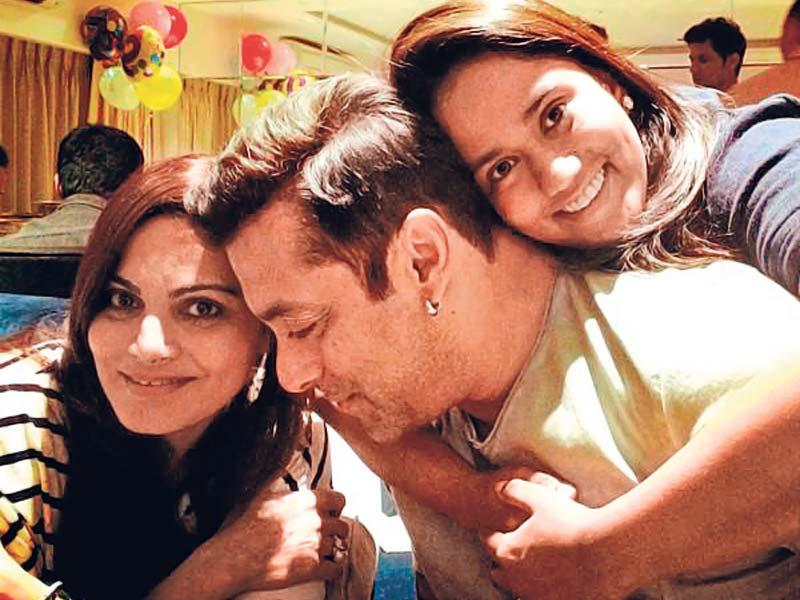 Salman with his sisters Arpita and Alvira in a picture posted on Instagram.