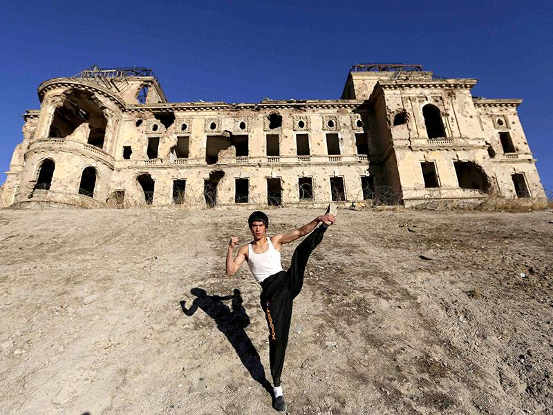 He rejects the name Bruce Hazara given to him by friends in recognition of his ethnic heritage, saying he prefers to be known as the Afghan Bruce Lee in a country riven by tribal divides. (Reuters Photo)
