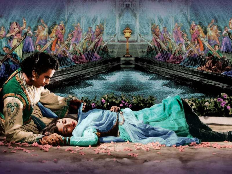 Mughl E Azam: K Asif's1960 epic story on a prince who rebels against his father and the Emperor of Mughals for his beloved, is arguably the most romantic film in Bollywood. Dilip Kumar played the prince and romanced Madhubala in the movie.