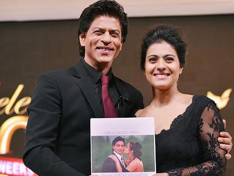 Shah Rukh Khan and Kajol unveiled the special coffee table book written by Aditya Chopra, about the making of DDLJ: Aditya Chopra Relives Dilwale Dulhania Le Jayenge as told to Nasreen Munni Kabir.