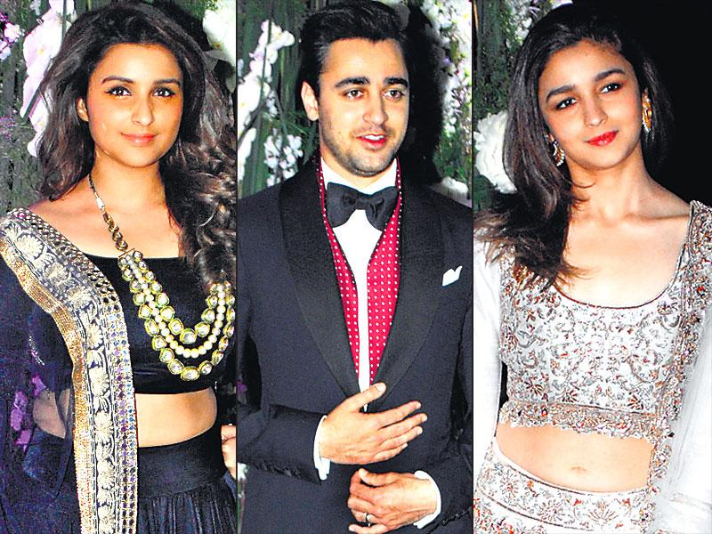 The sangeet ceremony of Riddhi Malhotra and Tejas Talwalkar was a starry affair as several B-Town stars made an appearance, including Parineeti Chopra, Imran Khan and Alia Bhatt. (HT Photo)
