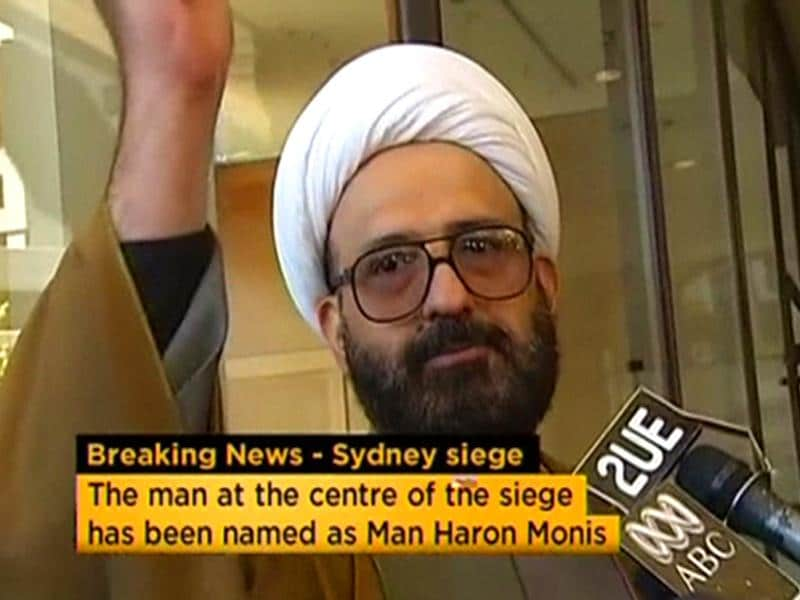 Iranian refugee Man Haron Monis speaks in this still image taken from an undated file footage. (Reuters)