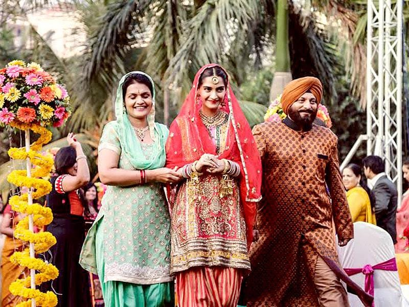 Sonam Kapoor as a Punjabi bride from Dolly Ki Doli.