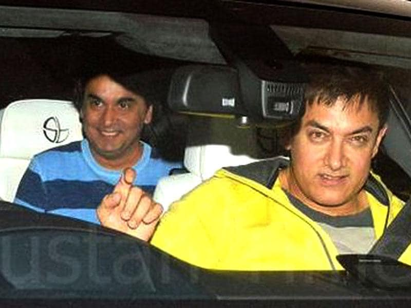 Aamir Khan arrives at the first special screening of PK.