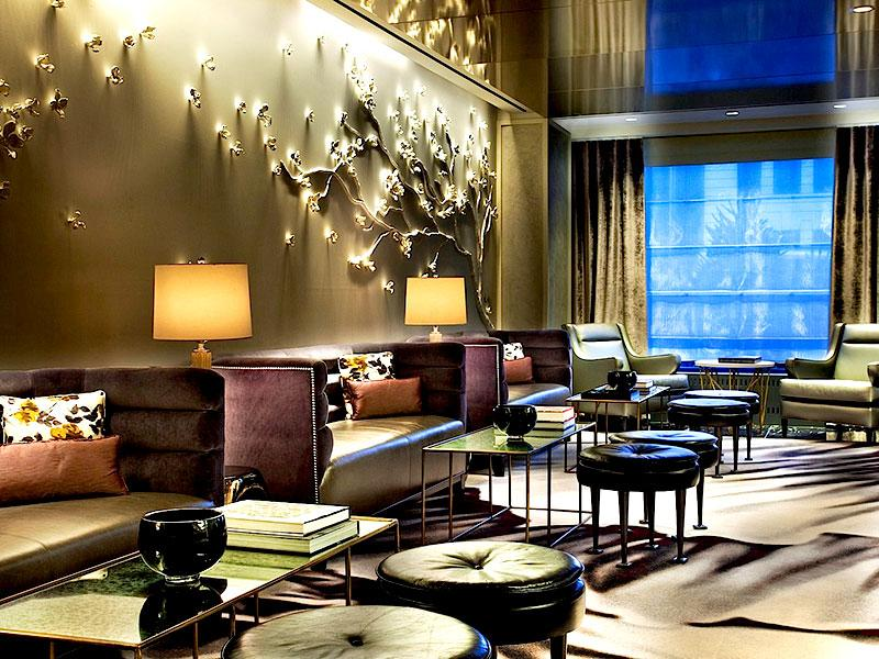The lounge at the Loews Regency Hotel, New York.