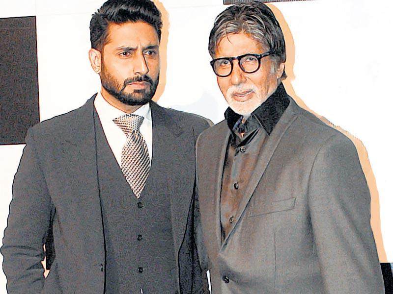 Amitabh Bachchan and son Abhishek Bachchan showed up together at an event after a long time. Salman Khan was the other big attraction at this awards show. The female brigade was led by Priyanka Chopra. Abhishek, Salman, Priyanka, Karan Johar, Ekta Kapoor, Sonakshi Sinha and Shahid Kapoor were all seen in black outfits. (Photos-HT Photos/Prodip Guha)