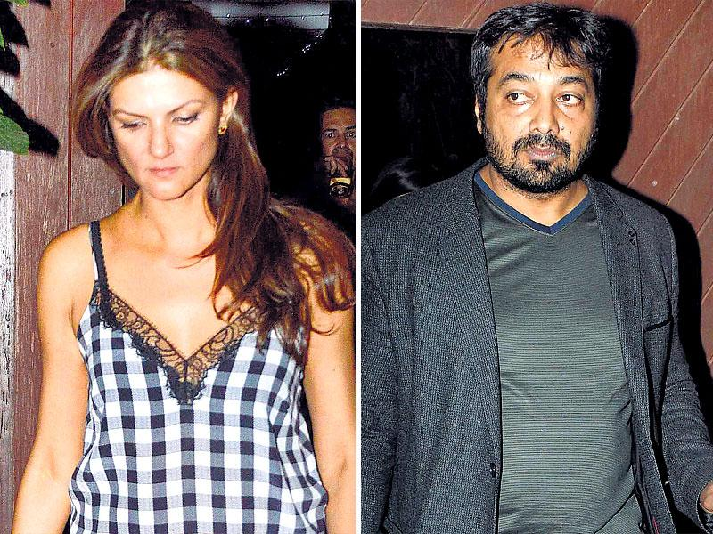 While everyone was dressed in casuals, including designer Nandita Mahtani Anurag Kashyap preferred to show up in a suit. (HT Photo)