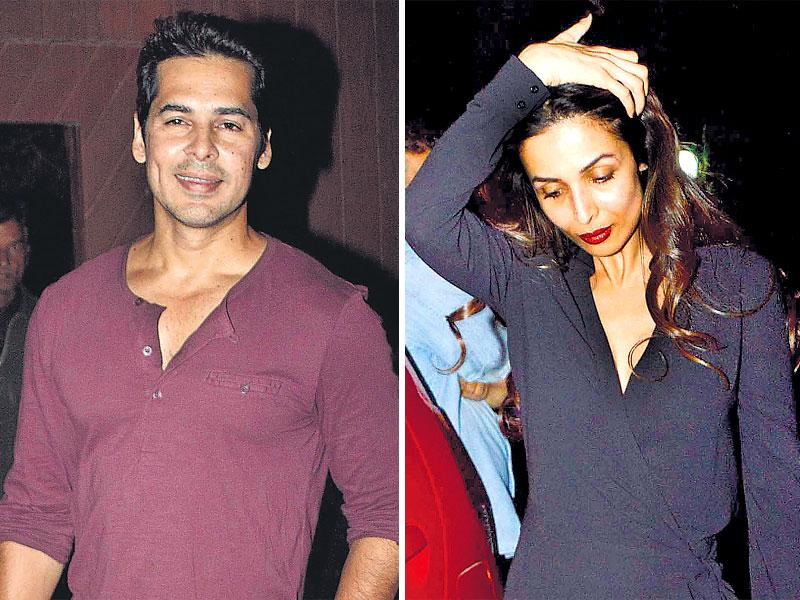 Dino Morea (left) hosted several celebs at his house for a pre-Christmas bash, where Malaika Arora Khan made a solo appearance, and refused to pose for the cameras. (HT Photo)