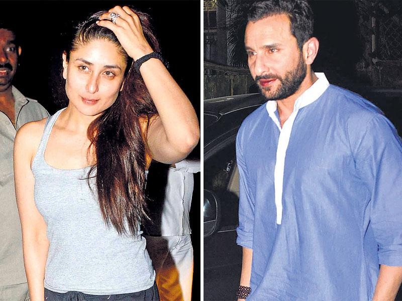 Dino Morea hosted several celebs at his Mumbai house for a pre-Christmas bash. Saif Ali Khan was accompanied by his wife Kareena Kapoor Khan. (HT Photo)