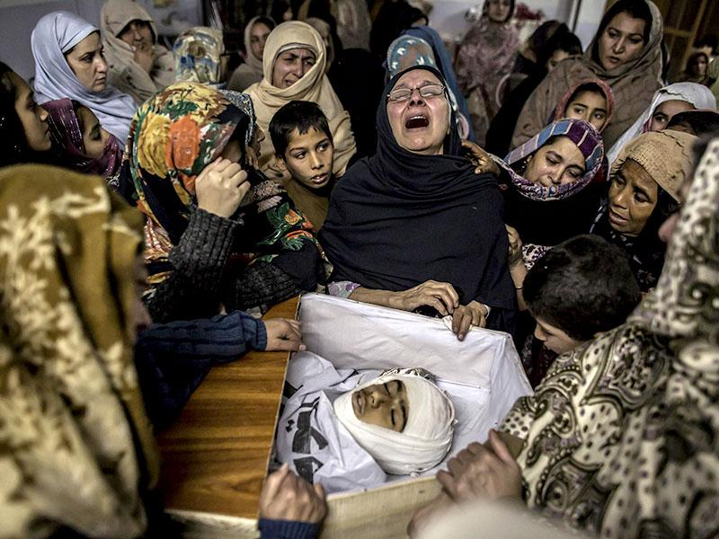 Women mourn their relative Mohammed Ali Khan, 15, a student who was killed during an attack by Taliban gunmen on the Army Public School, at his house in Peshawar. (Reuters Photo)