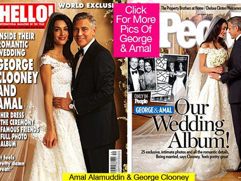 The venue was Venice and arguably the world's most eligible (and persistent) bachelor was tying the knot. George Clooney's wedding to human rights lawyer Amal Alamuddin had Hollywood A-listers in attendance. His female fans were not happy though.
