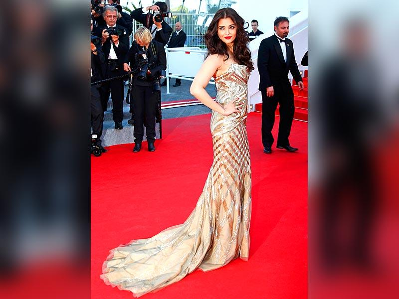 Aishwarya Rai Bachchan: Aishwarya stunned all at Cannes this year in a sparkly Roberto Cavalli fishtail gown that has previously been worn by Kristin Chenoweth at the 2014 Oscars.
