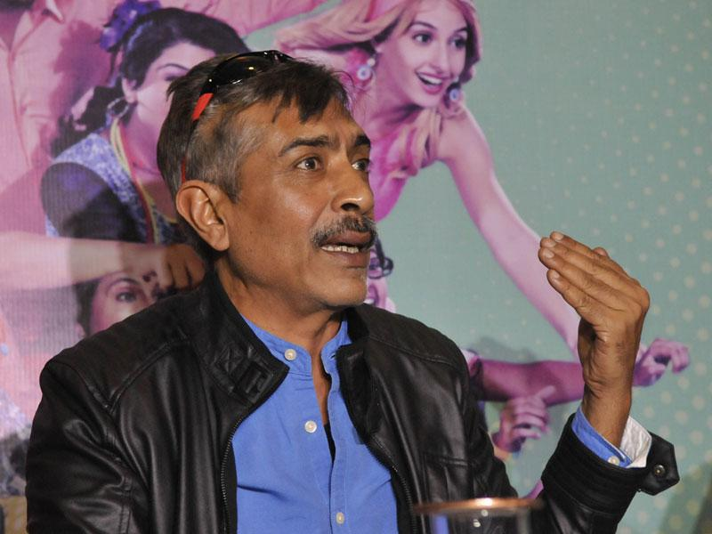 Filmmaker Prakash Jha interacts with the media about his upcoming film 'Crazy Cukkad Family', in Bhopal on Sunday. (Mujeeb Faruqui/HT photo)