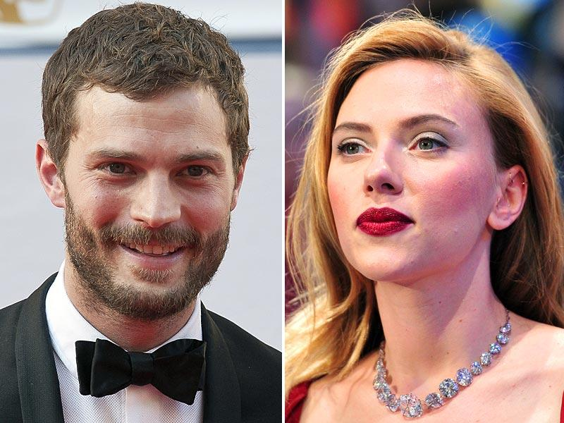 3. Jamie Dornan and Scarlett JohanssonDornan, known for his three-day stubble is likely to rise even higher in 2015 after arriving in theaters as Christian Grey in the Fifty Shades of Grey adaptation.Scarlett fully embraces her curves, and there's nothing sexier than confidence. So it's no surprise that the American actor was among the hottest women in 2014, the year she became a mother for the first time.
