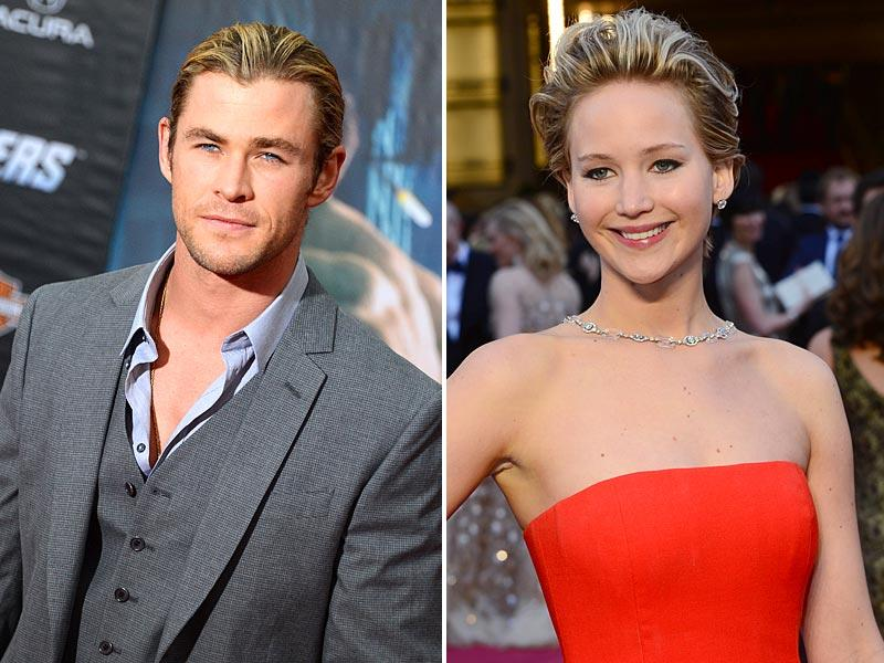 1. Chris Hemsworth and Jennifer LawrenceCould he be the new Brad Pitt? At any rate, the Australian actor's turquoise blue eyes and perfectly sculpted abs have plenty of women swooning. Too bad he's taken. Chris has been married to the actor Elsa Pataky since 2010. In first place in FHM's ranking of the sexiest women of 2014, Lawrecne was clearly in the limelight this year. Here, at the 86th Academy Awards ceremony, she confidently shows off her figure in a stunning red Dior dress.