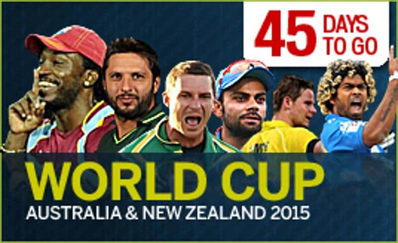 ICC Cricket World Cup 2015 - 45 days to go