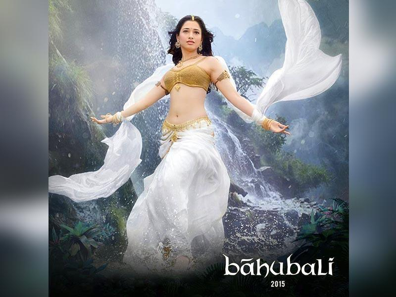 Tamannaah as Avantika and Anushka Shetty as Devasena play warrior princesses. (BaahubaliMovie/Facebook)