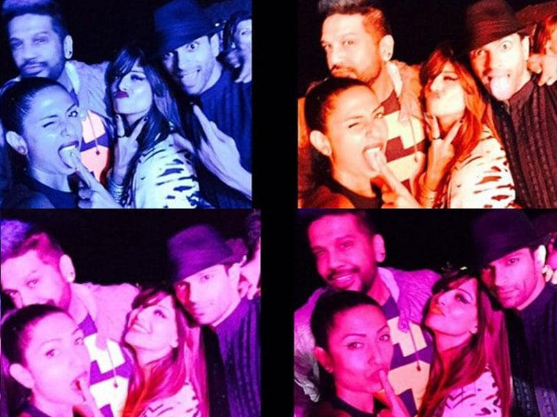 New Year found Bipasha Basu in Goa along with a group of friends, including rumoured beau Karan Singh Grover.