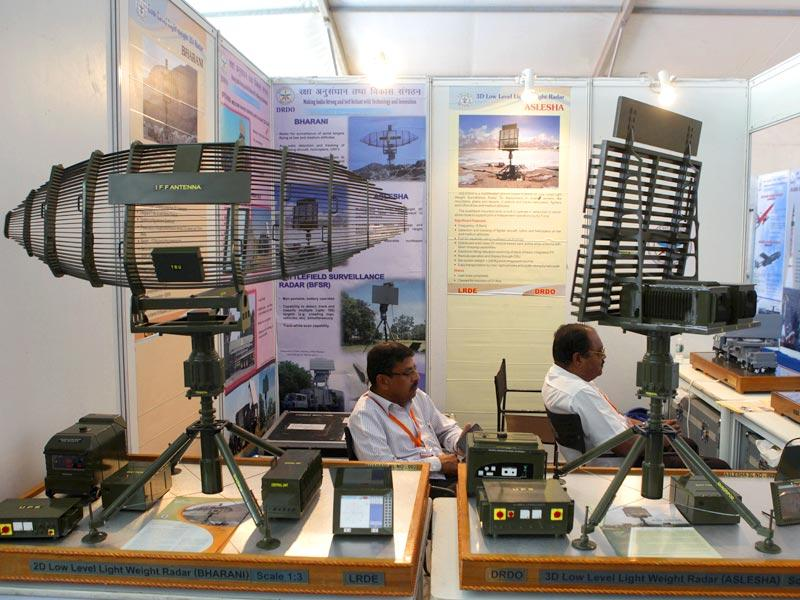 A view of the Defence Research and Development Organization (DRDO) stall at 102nd Indian Science Congress exhibition in Mumbai.(Kalpak Pathak/HT photo)