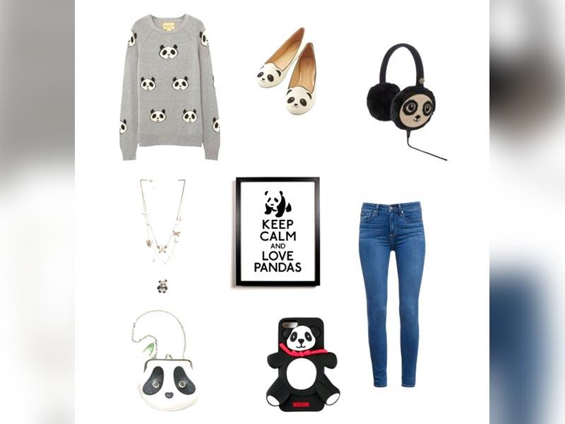 Soft inspiration: For a relaxed and casual look, team up your jeans with a cute panda sweater and ballerinas.