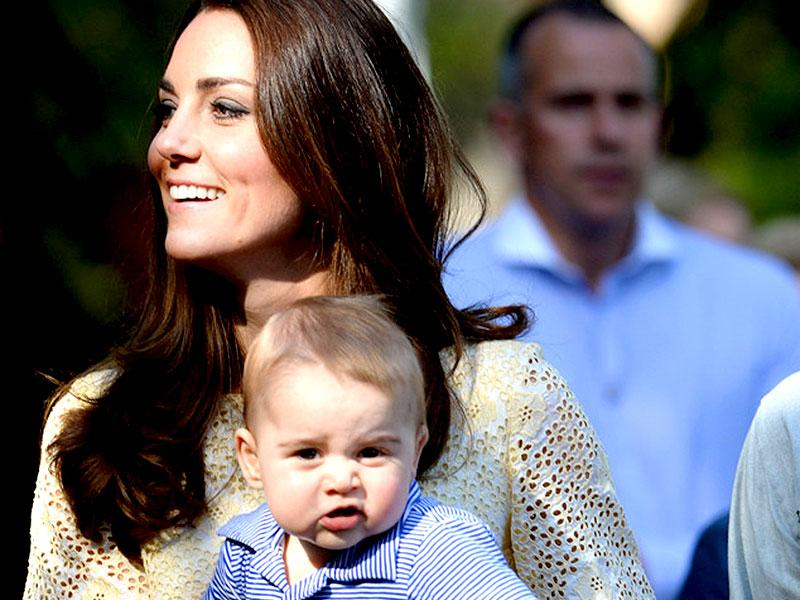 Kate Middleton with eight-month-old Prince George. (Agency)