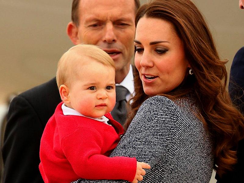 Kate Middleton, the Duchess of Cambridge, with Prince George. (File Photo)