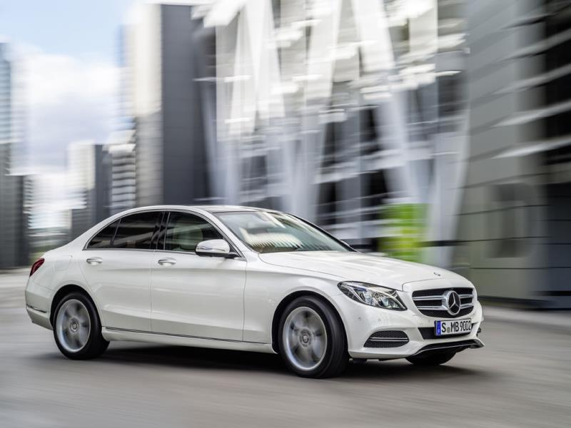 Safest large family car: the Mercedes-Benz C-Class : Compare that with the fact that every new car in the large family car class managed to obtain five stars, with the latest Mercedes-Benz C-Class coming top of the pile. Photo:AFP