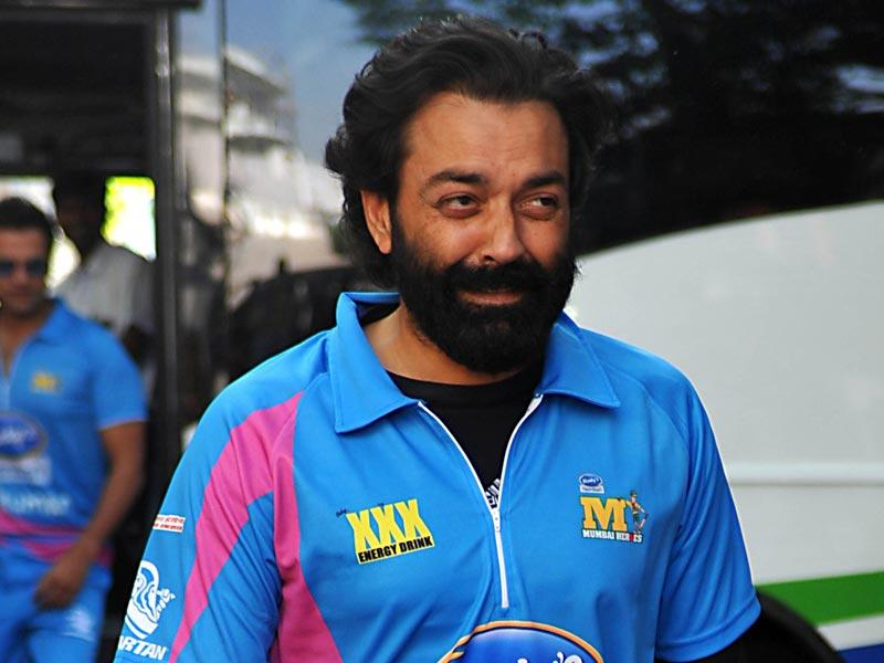 What's with the beard? Bobby Deol arrives for the Celebrity Cricket League (CCL) season five in Mumbai on January 10, 2015. (AFP Photo)
